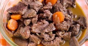 cuisiner du boeuf en morceaux recette boeuf carotte 750g