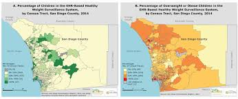 Map Of San Diego County by Using Electronic Health Record Data For Healthy Weight