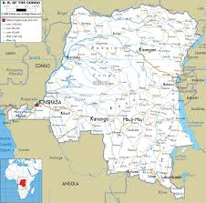 Map Of Zambia Detailed Clear Large Road Map Of Democratic Republic Of Congo