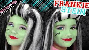 frankie stein monster high costume makeup tutorial for halloween