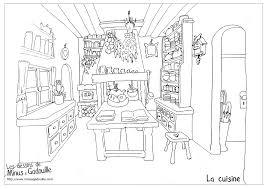 dessins de cuisine cuisine 36 bâtiments et architecture coloriages à imprimer