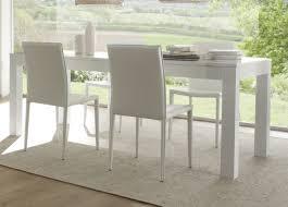 table de cuisine blanche avec rallonge table a manger blanche table de salle a manger en verre avec