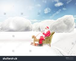 santa claus ride fake deer on stock photo 217881520 shutterstock