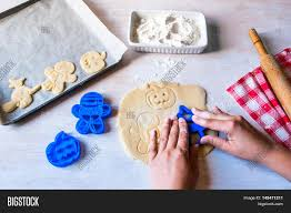 making cookies for halloween and thanksgiving fun food for kids