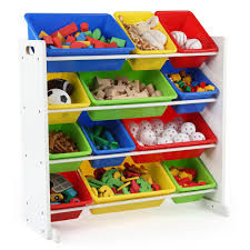 tot tutors summit collection white primary kids toy storage