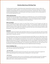 scholarship essay format sponsorship letter
