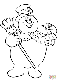 free cartoon frosty the snowman coloring pages printable for kids