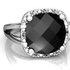 black gemstone rings images Black onyx halo cocktail ring r2498 wonyx jpg