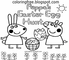 peppa pig easter egg animated coloring page alric coloring pages