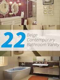 Contemporary Bathroom Vanities by 22 Beige Contemporary Bathroom Vanity Designs To Inspire You