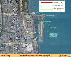 Chicago Trolley Map by Northerly Island 1track Org Overview