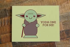 yoda valentines card jedi master valentines s day card