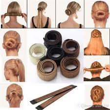 hair bun maker instructiins hair magic tools hair bun maker hair ties girl diy styling donut