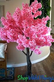 artificial flowering trees 6 cherry blossom or pink dogwood