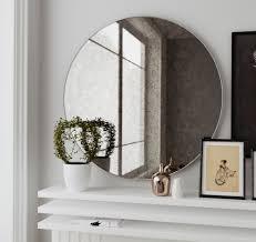 pleasant frameless beveled mirror wall for bathroom â u20ac u201d new home