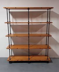 1300 custom made industrial iron pipe storage shelf in this