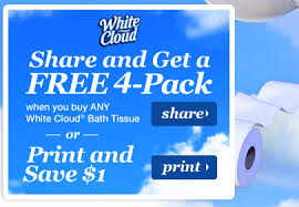 White Cloud Bathroom Tissue - rare white cloud buy one get one free coupon facebook