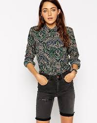 paisley blouse asos asos vintage paisley print blouse
