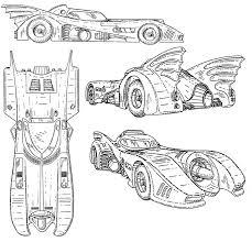 batman car drawing batmobile coloring page kids coloring