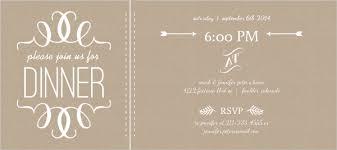 dinner invitation faux kraft paper and white modern dinner invitation dinner party