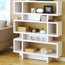 White Bookcase Ideas Modern Book Shelves Bookcases Three Tier Modern White Bookcase