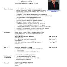 Real Estate Resume Templates Free Cover Letter Real Resume Examples Real Life Resume Examples Real