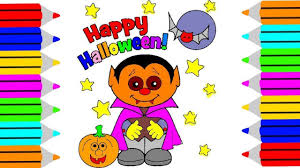 halloween little vampire coloring pages halloweem coloring book