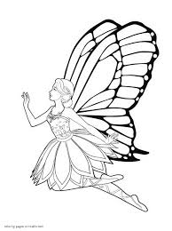 barbie fairy coloring pages barbie mariposa fairy princess