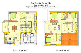 Two Storey House Design And Floor Plan Architecture Home Floor Plans For Small And Large Size Land
