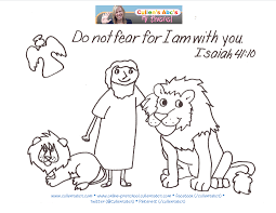 daniel and the lions den coloring page eson me