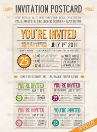 postcard invitation template graduation party invitation postcard