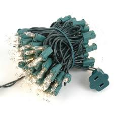 mini light sets 100 light green wire 2 5 spacing