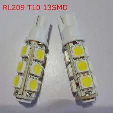 free shipping 10pcs lot t10 13smd 12v 194 168 w5w interior led