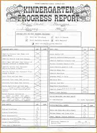 report card template kindergarten report card template professional template