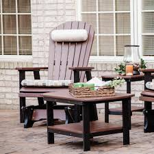 Outdoor Single Glider Chair Comfo Back Single Glider Berlin Gardens Dfohome