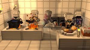vanilla minecraft kitchen tutorial youtube