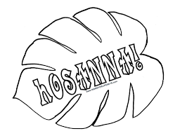 hosanna palm leaf sunday in leaves coloring pages eson me