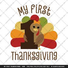 my 1st thanksgiving my thanksgiving bow svg dxf eps digital cutting file