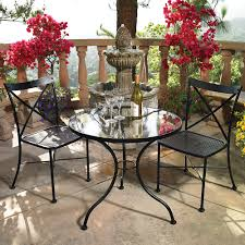 ow lee villa 3 piece bistro dining set with wrought iron table ow