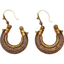 hoops earrings india antique south india granulated gold hoop earrings from nicestuff