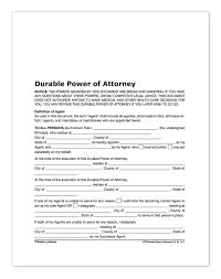printable durable power of attorney form choice image form