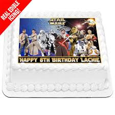 wars edible image wars personalised a4 edible icing cake topper ebay