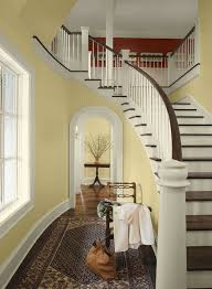 yellow entryway ideas sun kissed formal entry paint color schemes