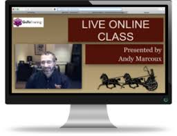 on line class live online classes with andy marcoux