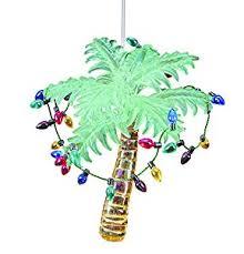 glass palm tree ornamen 4 5 home kitchen
