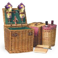 wine picnic basket picnic time vino wine cheese picnic basket in pine green