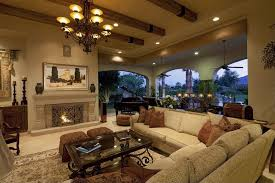 Living Rooms With Soaring Story  Cathedral Ceilings Dark - Large family room