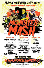 monster mash halloween friday october 28th monster mash 2016 liberty grand u2014 edm canada