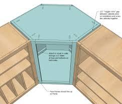 how to build a corner kitchen cabinet alkamedia com