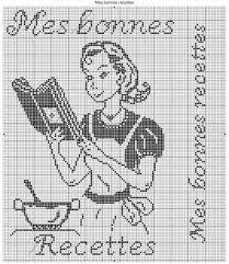 point de croix cuisine les fans de gourmandises cuisine cross stitch stitch and filet